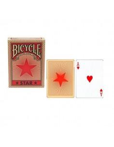 Tarjetas estrella roja bicicleta