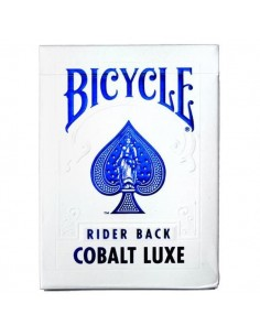 Bicycle Rider Back Blue Metal Luxe