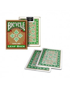 Bicycle palying cards - Leaf back green