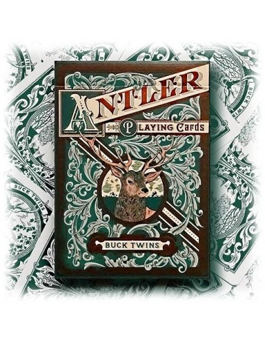 Antler By Dan & Dave hunter green playing cards
