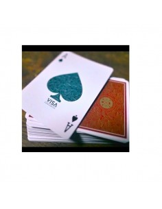 Visa playing cards red back