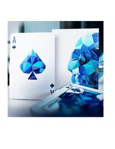 Memento Mori blu playing cards