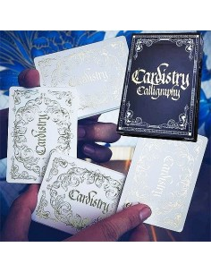 Cardistry Calligraphy Golden playing cards