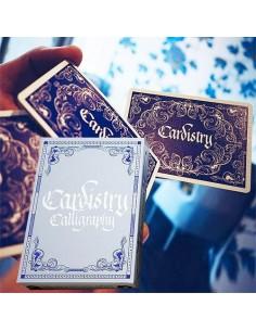 Carte da gioco Cardistry Calligraphy - Blue