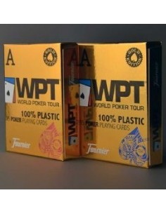 Fournier WPT Gold blu playing cards