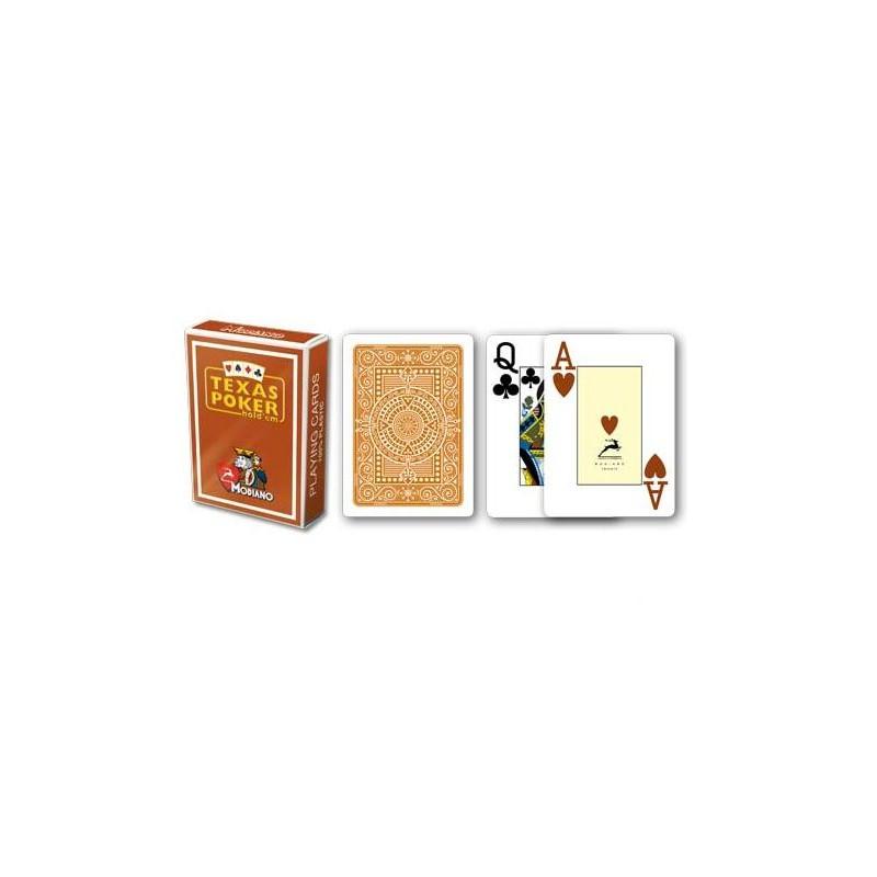 MODIANO POKER gioco di carte 100/% Plastica Marrone