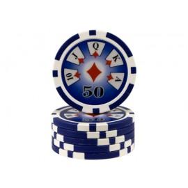 Chips 13.5 gr Royal Flush - 50