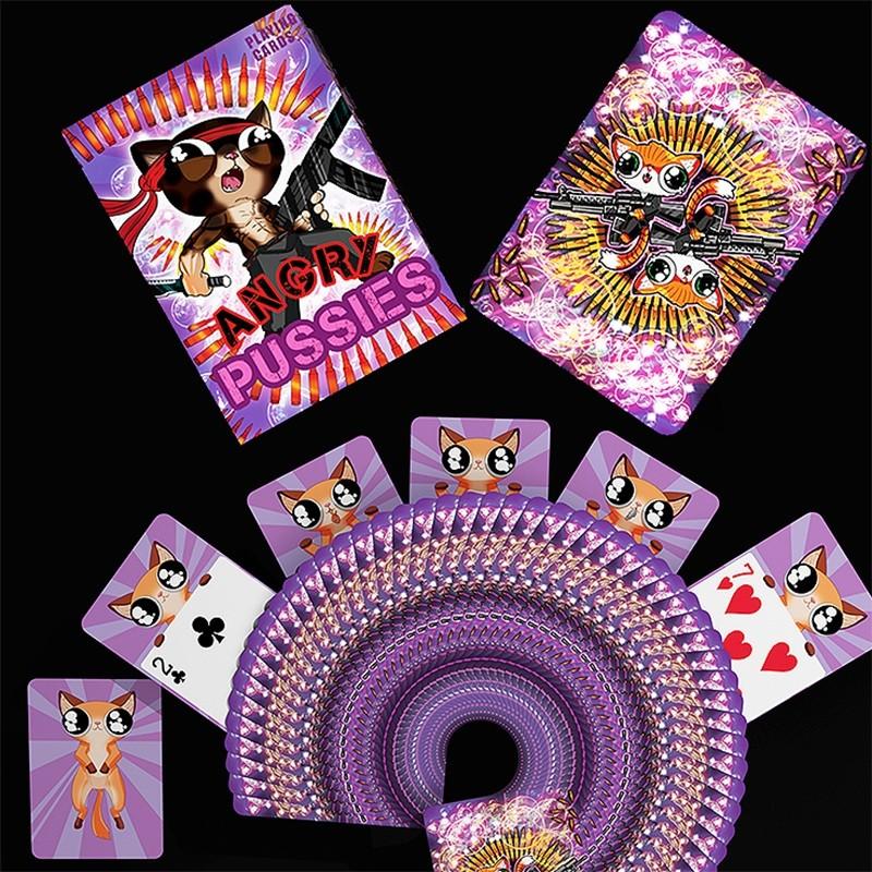 Angry Pussies by De/'vo vom Schattenreich and Handlordz Spielkarten Cardistry