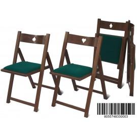 Sedie da gioco prodotte da F.lli Del fabbro con marchio Tavoloverde