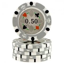 Fiches Crown Casino Grey 0,50